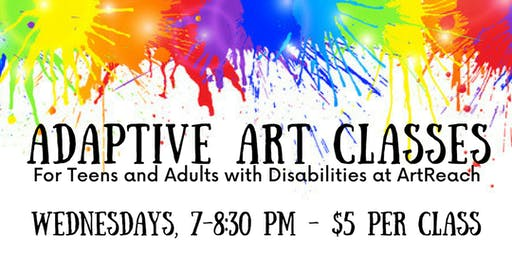 Adaptive Art Classes (Teens & Adults with Disabilities)