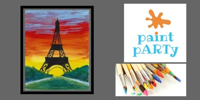 All Ages Paint Party on Canvas - Eiffel Tower - $25 pp