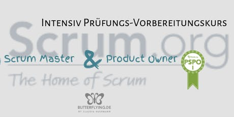 scrum.org Intensiv-Vorbereitungskurs PSM I  | butterflying.de Akademie Tickets