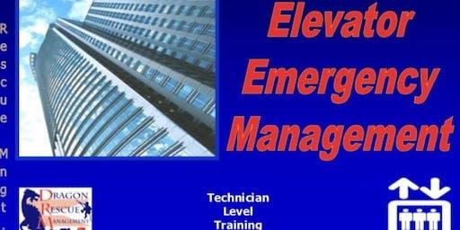 Elevator Emergency Management - Technician Level - July 17, 2019
