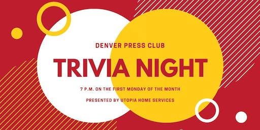 Denver Press Club Trivia presented by Utopia Home Services