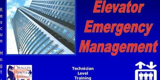 Elevator Emergency Management - Technician Level - September 27, 2019