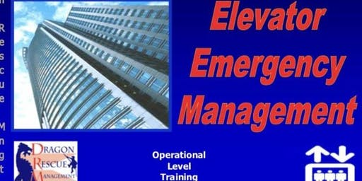 Elevator Emergency Management - Operational Level - November 4-5, 2019