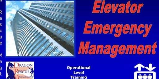 Elevator Emergency Management - Operational Level - November 4-5, 2019