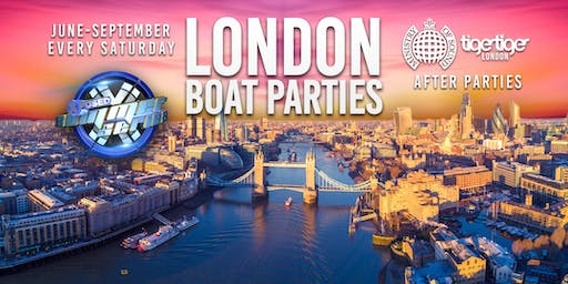 London Boat Party with SAM SUPPLIER + FREE Ministry Of  Sound After Party!