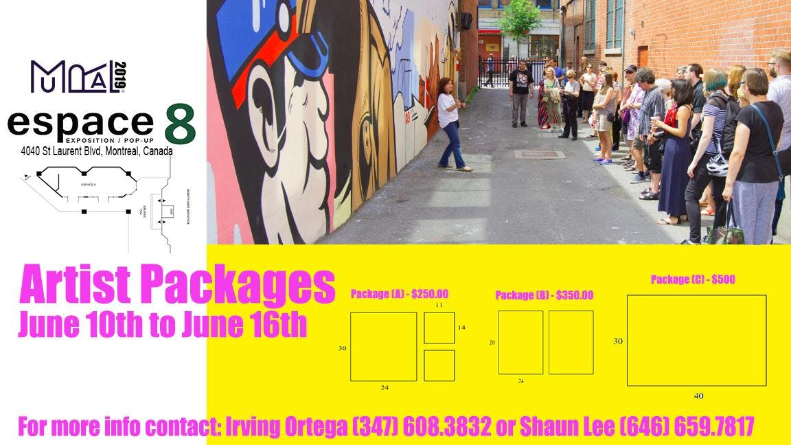 Montreal Mural Festival 2019 - Exhibitor Packages