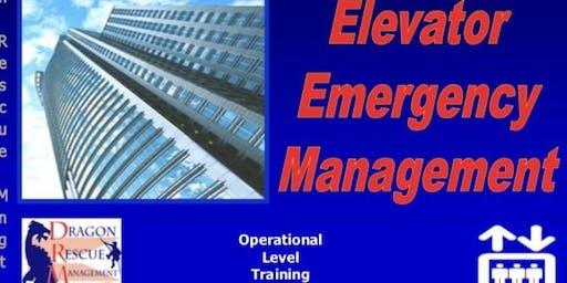 Elevator Emergency Management - Awareness Level - September 25, 2019