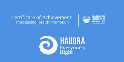 Certificate of Achievement in Introducing Health Promotion - Auckland