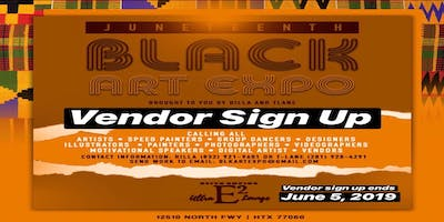 Black Art Expo: 2019 Vendor and Artist sign up