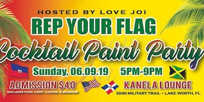 Rep Your Flag Cocktail Paint Party