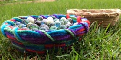 World environment day: Cardboard basket weaving