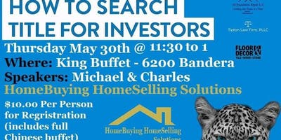 """Wildcat Lending Lunch & Learn - """"How to Search Title For Investors"""""""