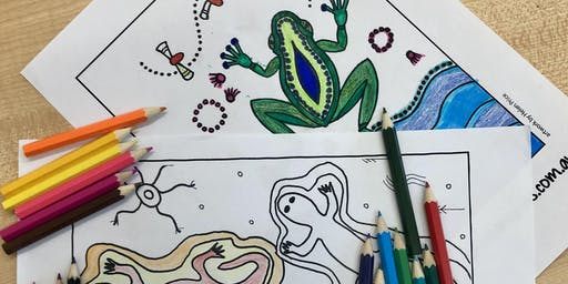 School Holidays Colouring-In