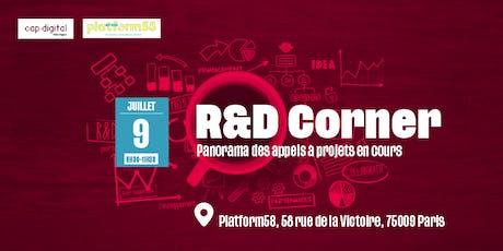 R&D CORNER - Juillet 2019 billets