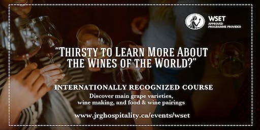 WSET Level 1 Award in Wines at S+L Kitchen & Bar Langley
