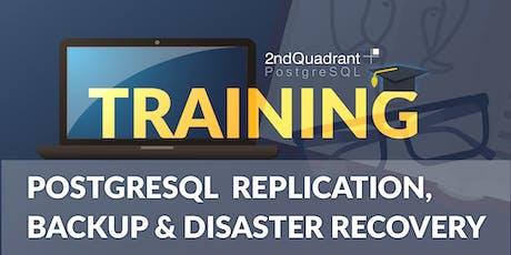 PostgreSQL Replication, Backup & Disaster Recovery - London, UK tickets