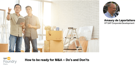 How to be ready for M&A – Do's and Don'ts tickets