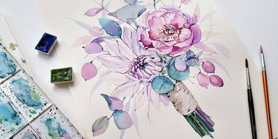 Modern Water Colour Workshop- Basics plus more over 3 weeks