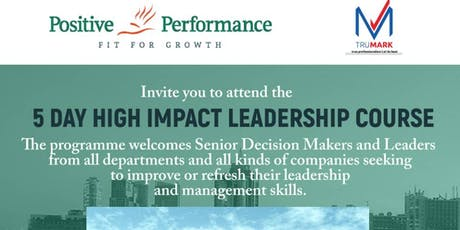 5 DAY HIGH IMPACT LEADERSHIP COURSE tickets
