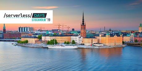 ServerlessDays Stockholm 2019 tickets