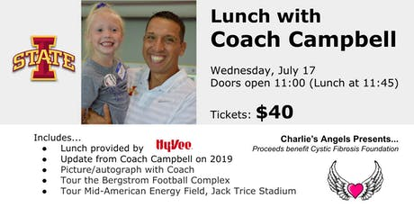 Lunch with Coach Campbell, Iowa State Head Coach tickets