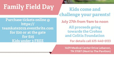 Family Field Day to raise funds  with Team Kate!