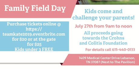 Family Field Day to raise funds  with Team Kate! tickets