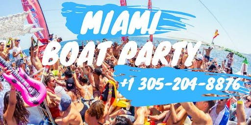 Booze Cruise Miami Party boat- unlimited drinks included