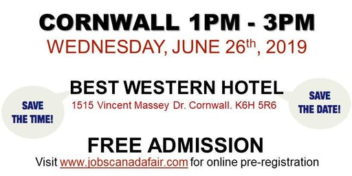 Cornwall Job Fair - June 26th, 2019