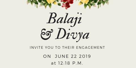 Engagement Ceremony of Balaji and Divya