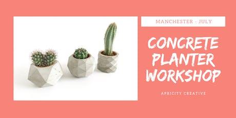 Geometric Concrete Planter Workshop tickets