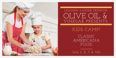 July 1-3, 5 Kid's Camp: Classic Americana Food (Ages 7 to 10)