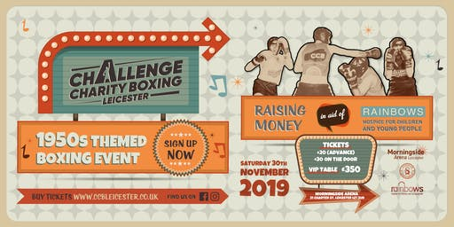 Challenge Charity Boxing Leicester 1950s Fight Night - November 2019