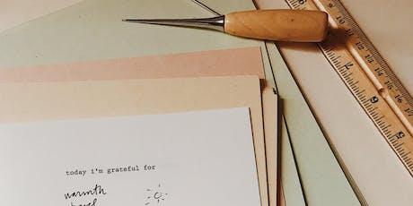 Bookbinding: Gratitude Journals + Meditation at Plant Work Shop  tickets