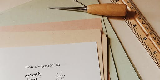 Bookbinding: Gratitude Journals + Meditation at Plant Work Shop
