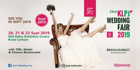 22nd KLPJ Wedding Fair 2019 (SEPTEMBER 2019) Mid Valley Exhibition Centre tickets