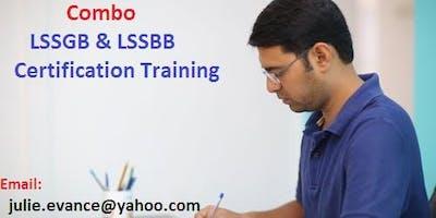 Combo Six Sigma Green Belt (LSSGB) and Black Belt (LSSBB) Classroom Training In Apple Valley, CA