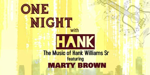 ONE NIGHT with HANK - Tift Theatre, Tifton GA