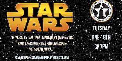 Star Wars Trivia at Growler USA Highlands Pub