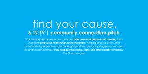 Find Your Cause: Community Connection Pitch - MYPN