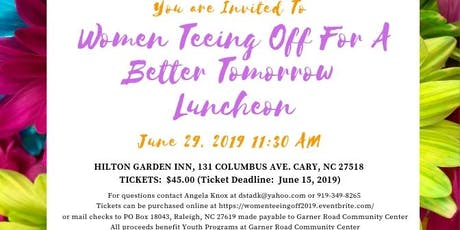 Women Teeing Off For A Better Tomorrow 2019 tickets