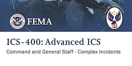 ICS 400 - Advanced ICS - Sheridan, WY - February 27-28  (TBC) tickets