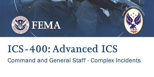 ICS 400 - Advanced ICS - Sheridan, WY - February 27-28  (TBC)