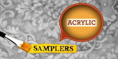 Acrylic Painting Sampler • June 2