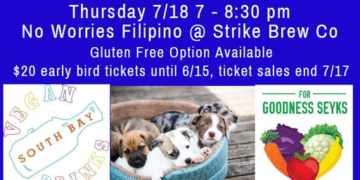 Vegan Social with adoptable puppies, food, and beer!
