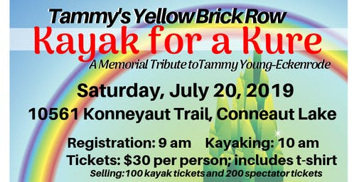 Tammy's Yellow Brick Row: Kayak for a Kure