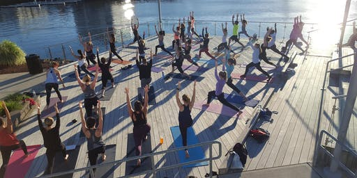 Sunset Barre with Exhale on the Boardwalk