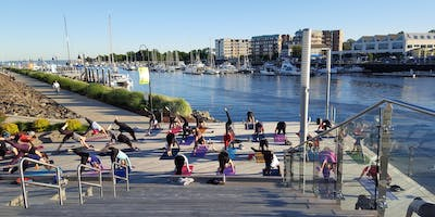 Sunset Yoga with Exhale on the Boardwalk