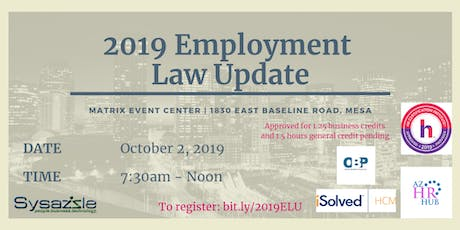 2019 Employment Law Update tickets