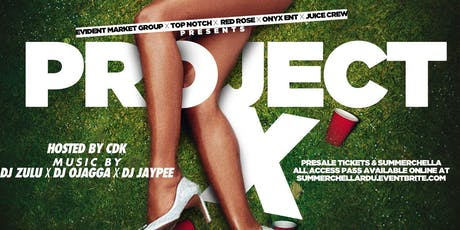 PROJECT X WEARHOUSE PARTY tickets